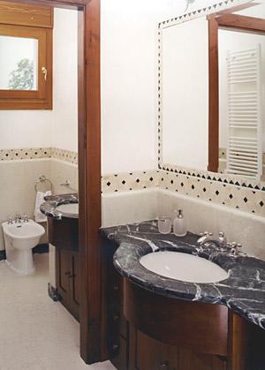 Barbieri marmo antico lucido l 39 unico brevettato - Bagno con greca ...